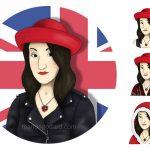 Portrait/avatar de la blogueuse «La Nana au collier rouge» (MAJ du 7/02)
