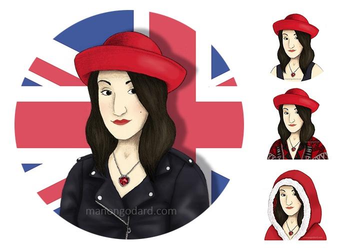 Portraits pour La Nana au collier rouge