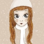 Illustration «Chiara sous la neige»