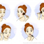 Illustrations de maquillage