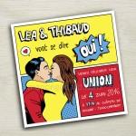 Faire-part de mariage Pop art – Comics