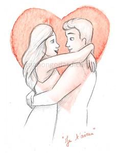 """Je t'aime"" (illustration de St Valentin)"