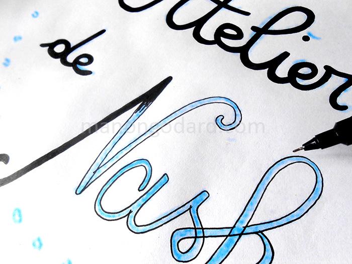 Typographie à la main