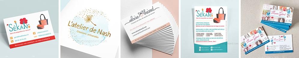 Book logo, flyer, carte de visite...