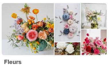 Tableau d'inspiration Pinterest Fleurs