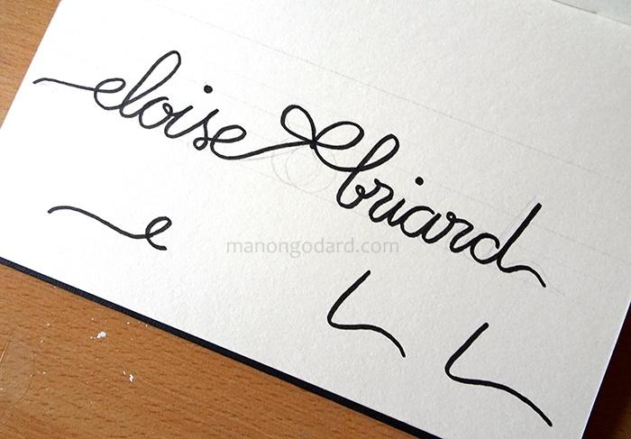 Dessin typographie lettering pour le logo d'une créatrice de robes de mariée
