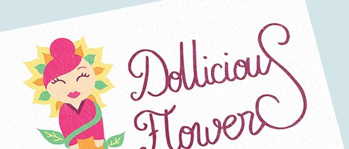 Création du logo «Dollicious Flowers», créatrice de poupées miniatures