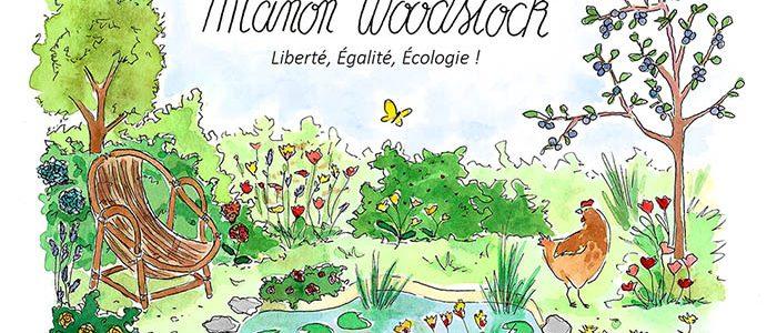 Illustration/bannière pour la blogueuse Manon Woodstock