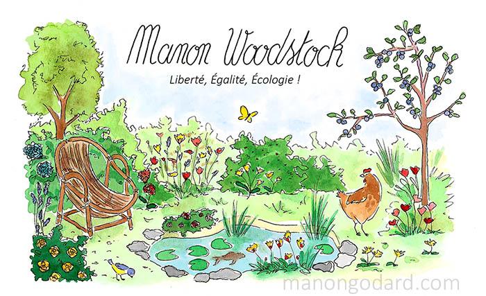 Bannière - illustration pour blog nature/ecologie/zero déchet