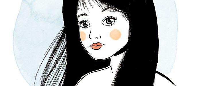«Mila», illustration/portrait à l'encre de Chine