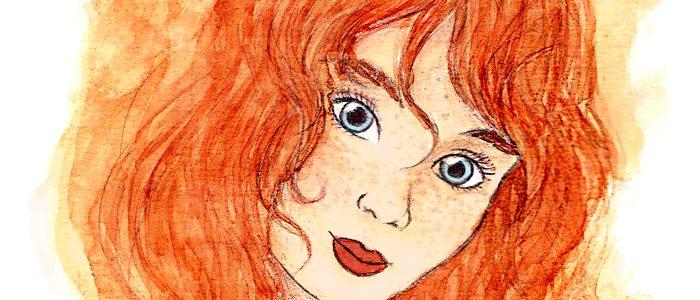 Illustration à l'aquarelle «Elisa»