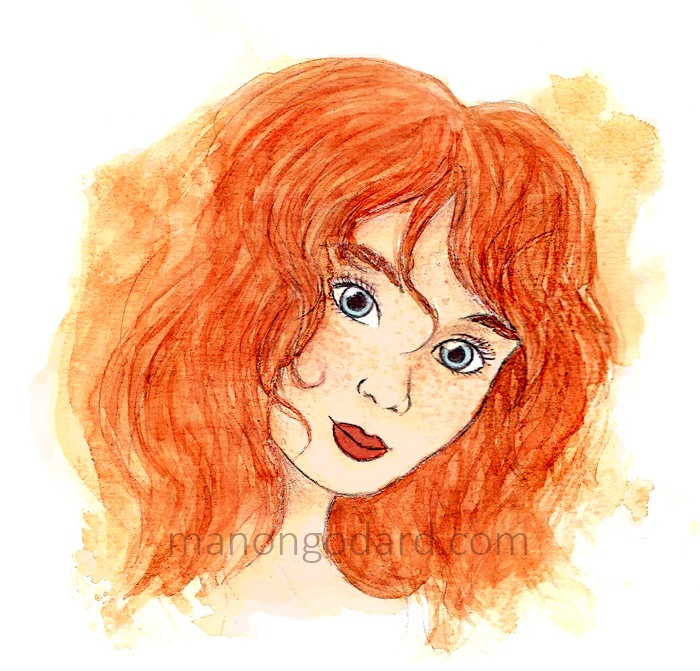 Illustration à l'aquarelle « Elisa »