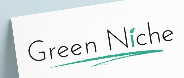 Création du logo Green Niche, boutique de cosmétiques véganes