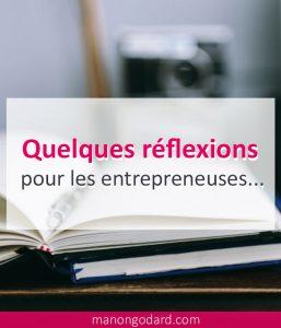 Quelques reflexions pour les entrepreneuses