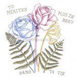 Illustration florale «Tu mérites plus de beau dans ta vie» (+ vidéo dessin)