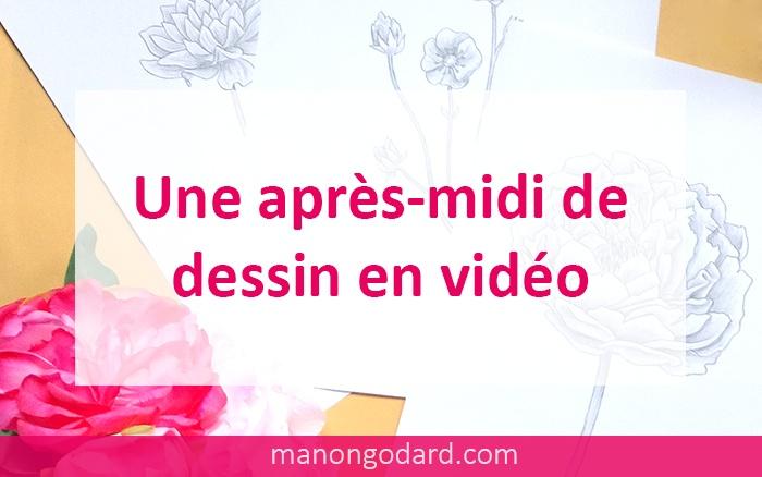 Vidéos de dessins de fleurs au crayon à papier, par Manon Godard