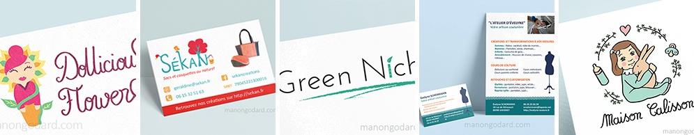 Book : logo, carte de visite, flyer, brochure