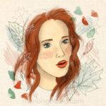 «Sienna», illustration d'automne (+ vidéo du dessin)