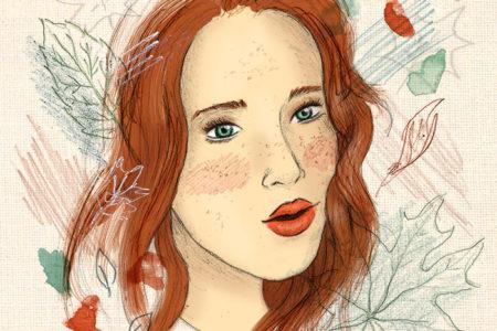 """Sienna"", illustration d'automne par Manon Godard"