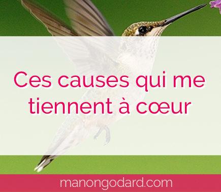 """""""Ces causes qui me tiennent à cœur"""" par Manon Godard"""