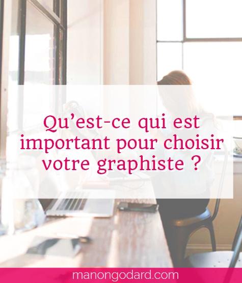 """""""Qu'est-ce qui est important pour choisir votre graphiste ?"""" par Manon Godard"""