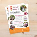 Flyer pour la créatrice Dollicious Flowers (avant/après + conseils)