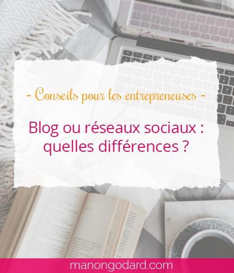"""""""Blog ou réseaux sociaux : quelles différences ?"""" par Manon Godard"""